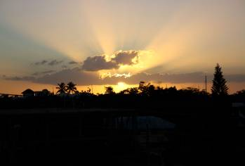 sunset in bayahibe